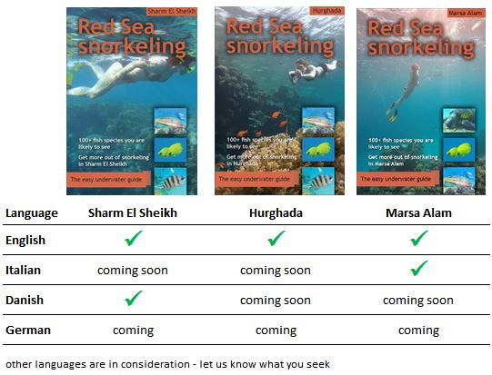 available language editions of the Red Sea Snorkeling guide